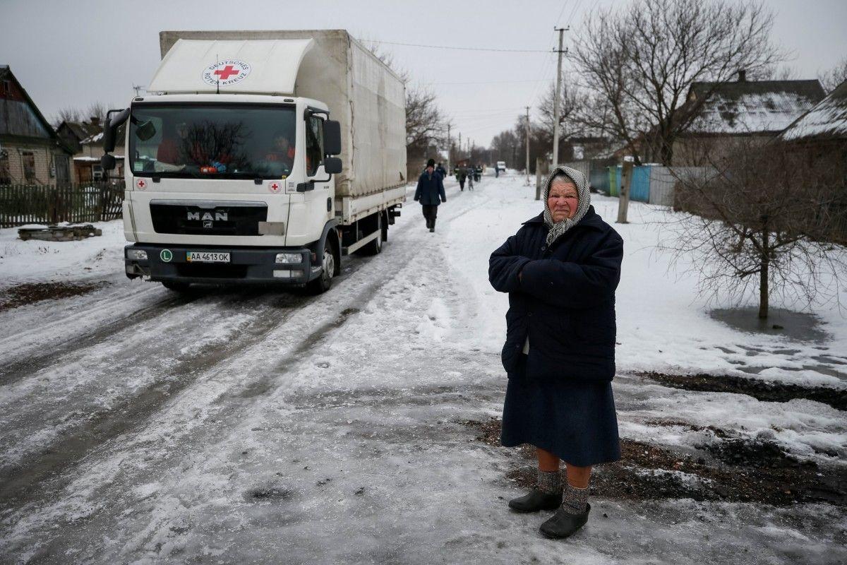 МКрасный Крест направил жителям оккупированных территорий Донецкой области гуманитарную помощь