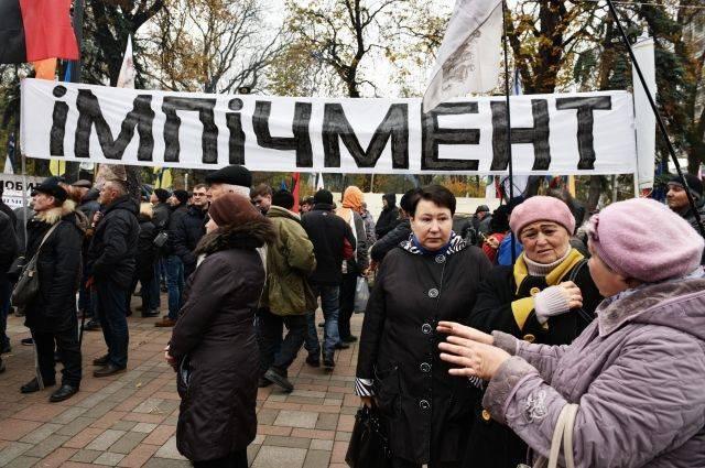 Сторонники Саакашвили устроили марш за импичмент Порошенко в Киеве