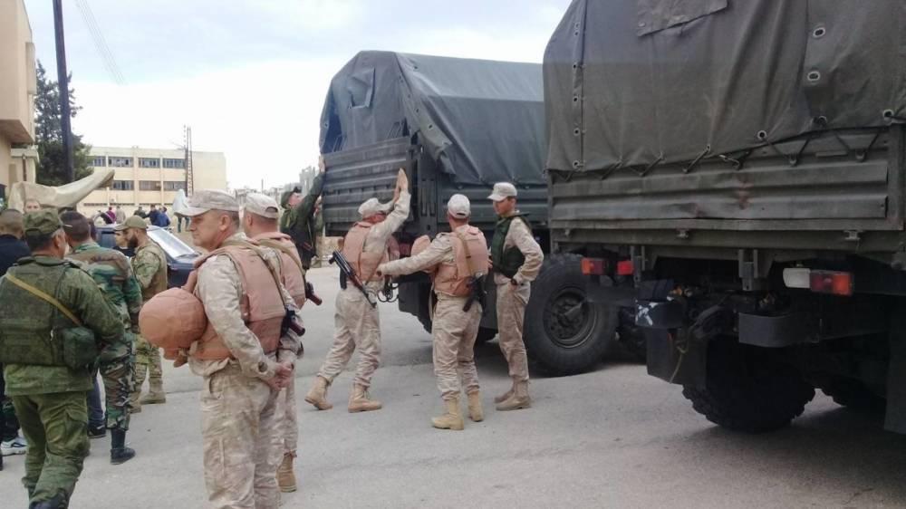 Сирия: военные РФ обеспечили доставку гумпомощи в пригород Дамаска