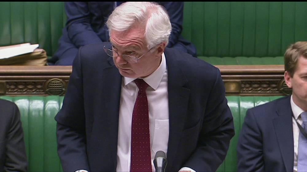Окончательное решение по Brexit за парламентом, объявил Дэвид Дэвис
