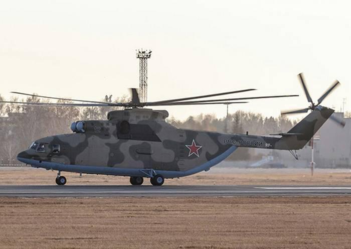 В ВВО поступил новый транспортный вертолет Ми-26