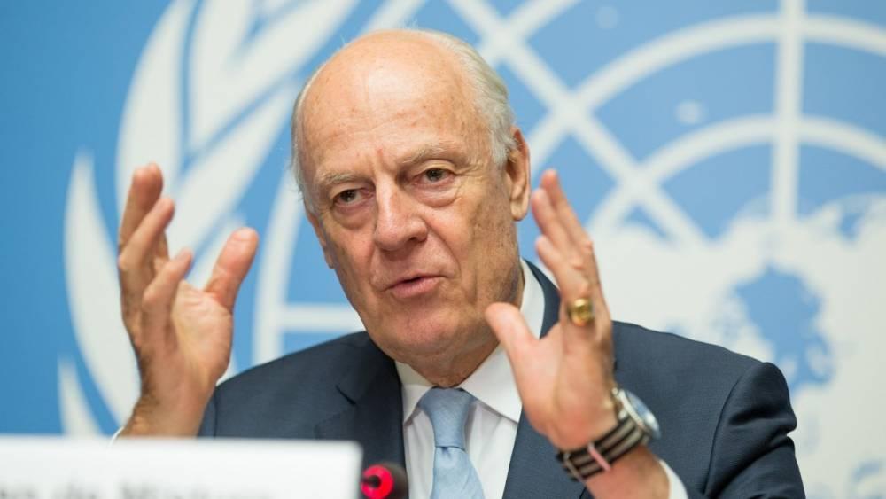 Для начала диалога о конституции Сирии не должно быть предварительных условий— де Мистура