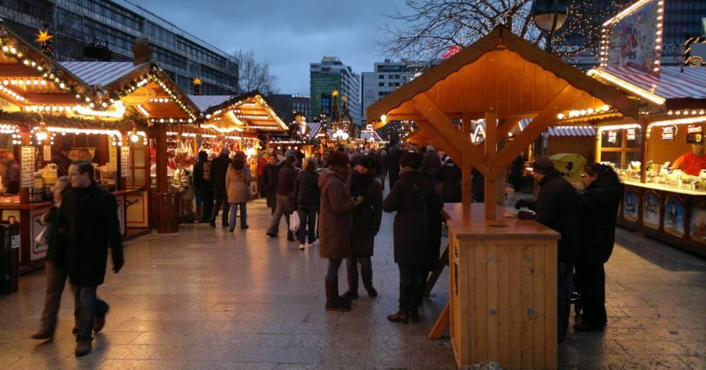 В Берлине у рождественского рынка обнаружили пакет с патронами