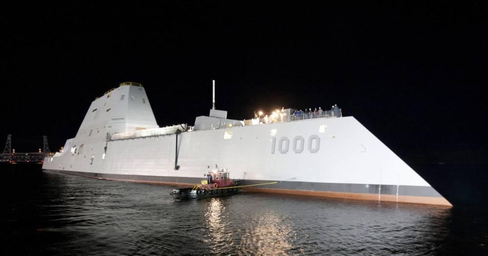 Американский эсминец Zumwalt прервал испытания из-за проблем с электрикой