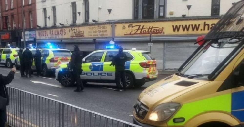 В Ливерпуле вооруженные полицейские провели спецоперацию