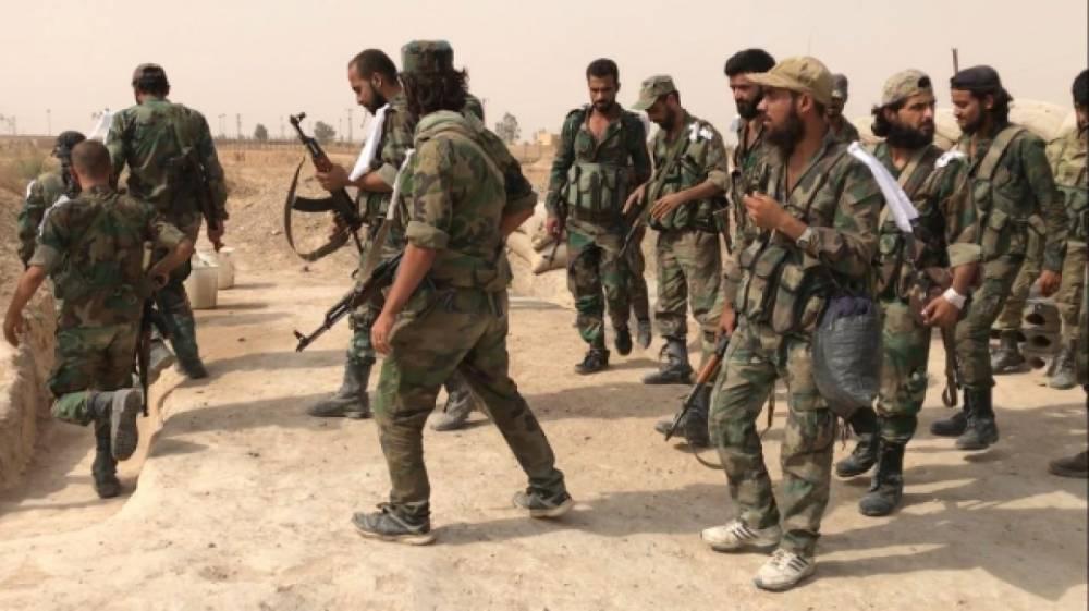 Сирия: САА продолжает обстрел позиций боевиков близ Бейт-Джинна — видео ФАН