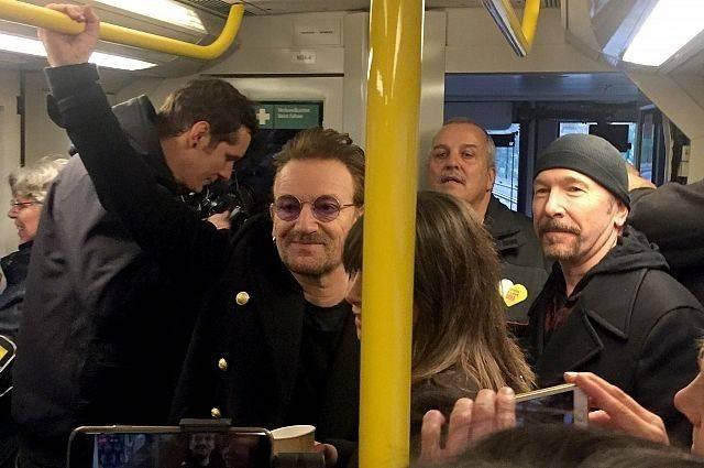 Группа U2 дала концерт на линии U2 в берлинском метро