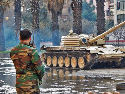 В Сирии Т-72М1 уверенно выдержал попадание американской ракеты