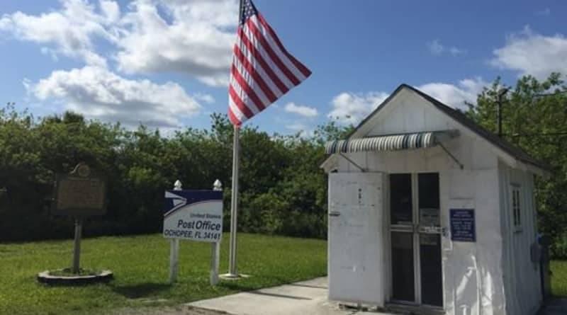 Самое маленькое почтовое отделение в Америке выстояло против Ирмы (фото)