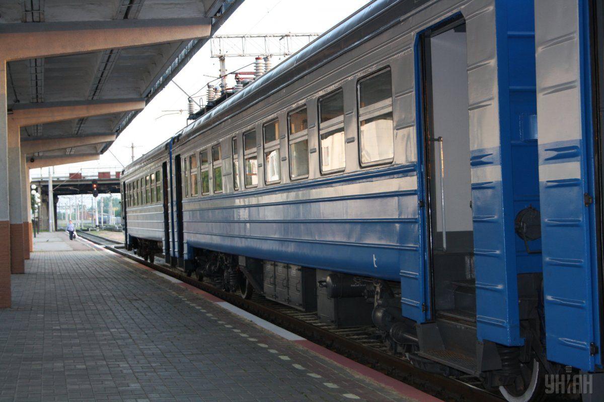 На Киевщине во время движения загорелся пассажирский поезд