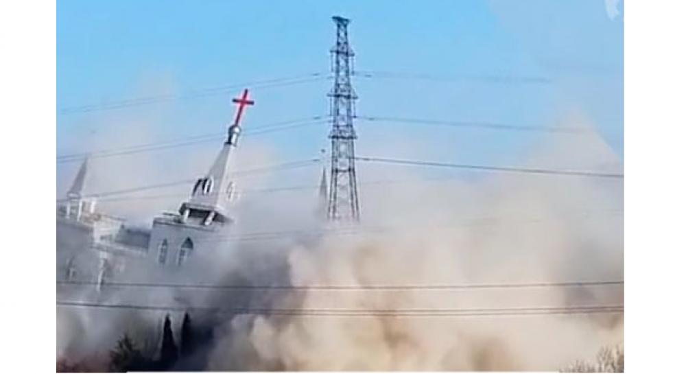 В Китае взорвали второй за месяц католический храм