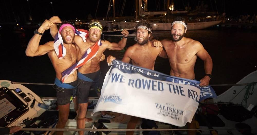 Четверо британцев пересекли Атлантику за рекордный срок