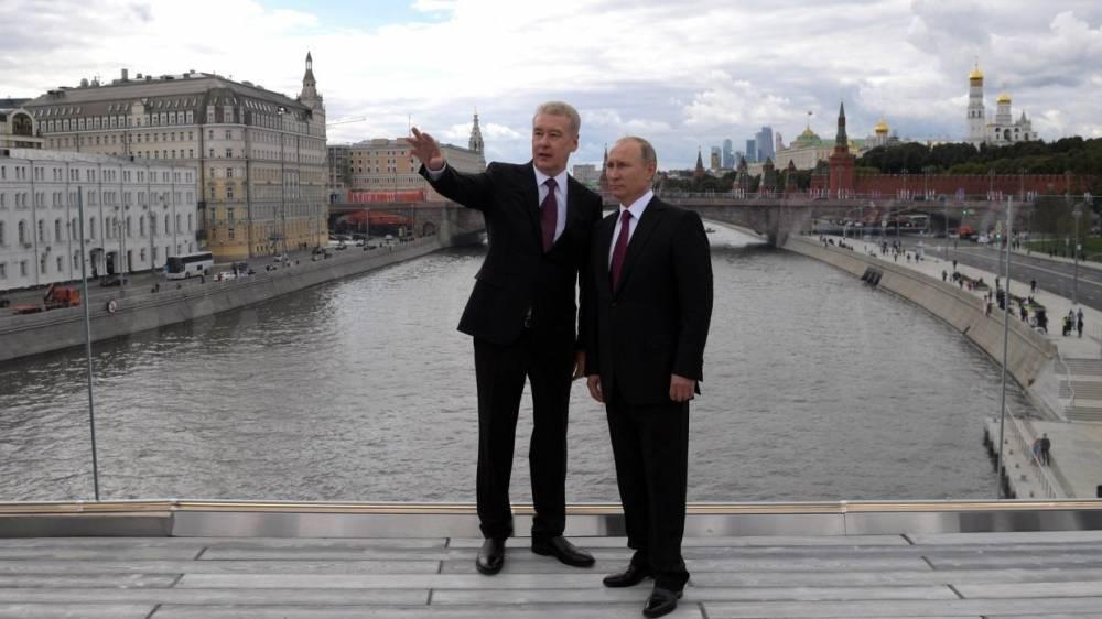 Союз журналистов Москвы наградил Путина и Собянина дипломами «За открытость прессе»