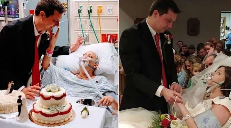 Сражавшаяся с раком женщина вышла замуж за несколько часов до смерти