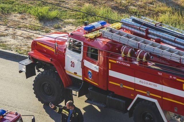 В Москве произошел крупный пожар в кафе на МКАД