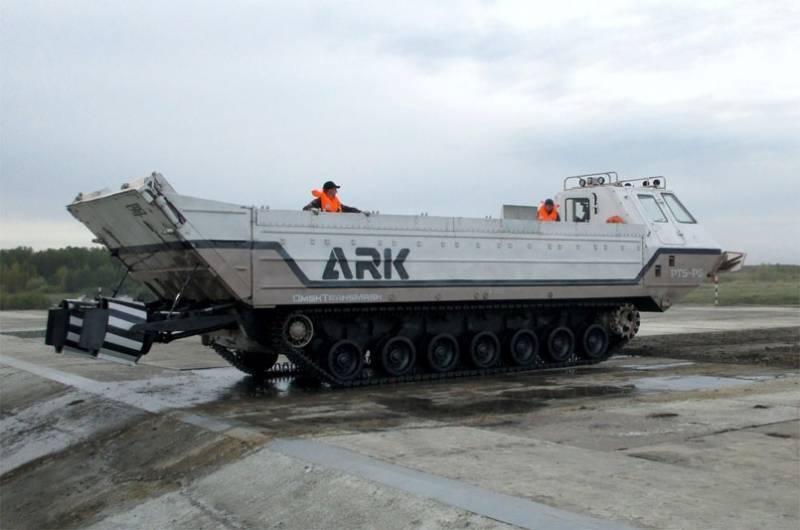 "На ""Омсктрансмаше"" зарегистрирован бренд плавающего транспортёра ARK (""Ковчег"")"