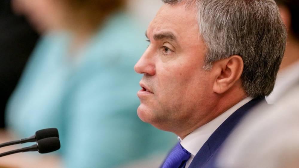 Володин назвал условия возобновления российских взносов в бюджет Совета Европы