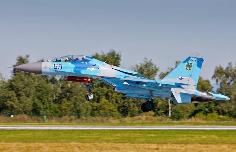 Су-27УБ ВВС Украины разбился в Винницкой области во время учений