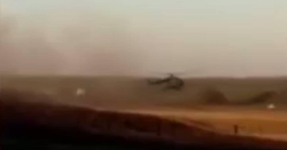 Появилось видео с места крушения Су-27 на Украине