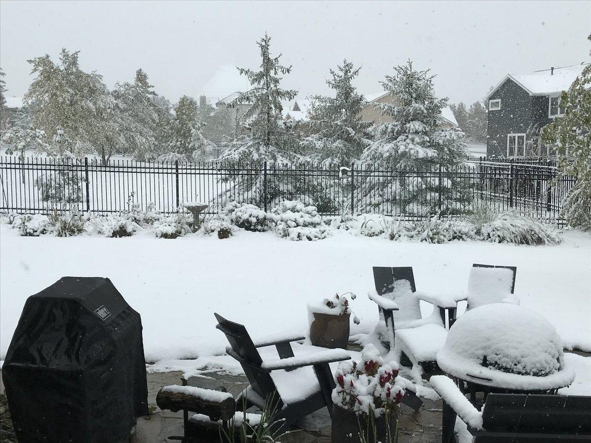В Небраске прошел рекордный снегопад