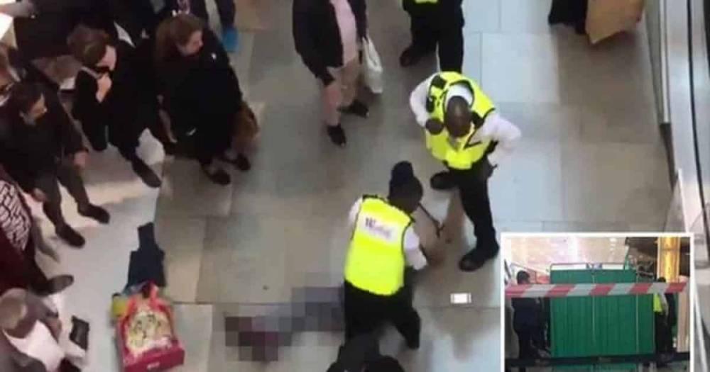 Инцидент в Westfield в Лондоне: мужчина упал на женщину с верхнего этажа здания