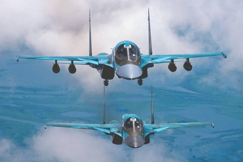 Два новых бомбардировщика Су-34 поступили на вооружение в ЦВО