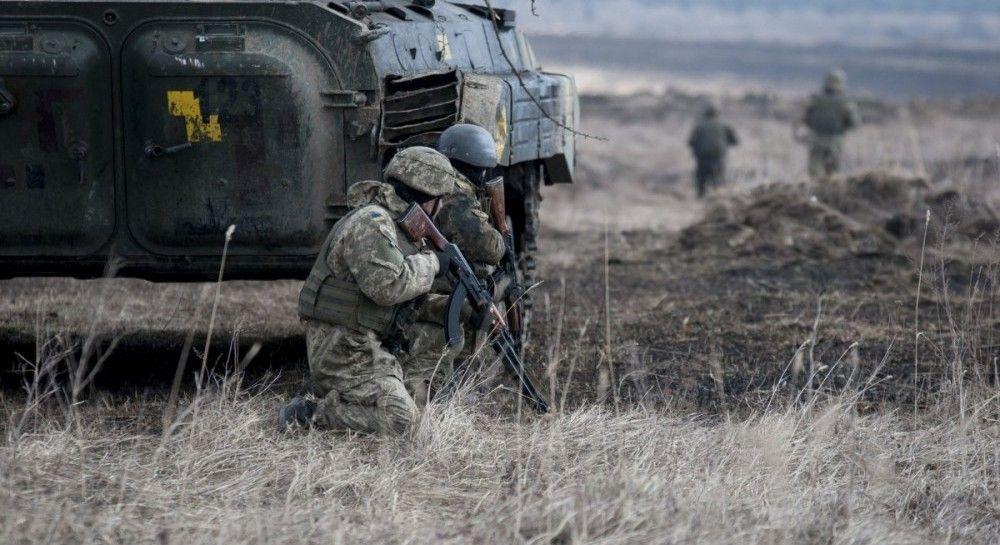 На Донбассе оккупанты 16 раз обстреляли военных, один ранен