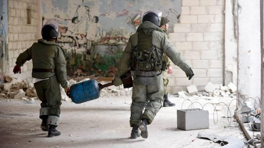 Сирия: российские саперы разминировали 6,5 тысячи гектаров территории