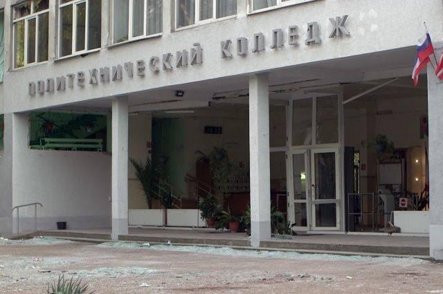 Корпус колледжа в Керчи начнут восстанавливать после завершения следствия