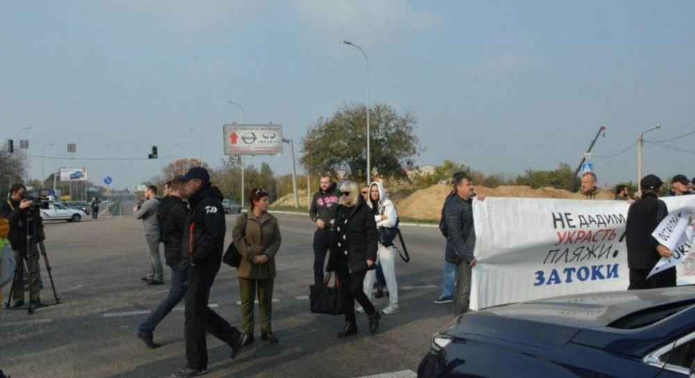 В пригороде Одессы активисты перекрывали Киевскую трассу