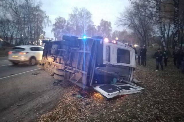 В Подмосковье при столкновении двух автобусов погибли четыре человека