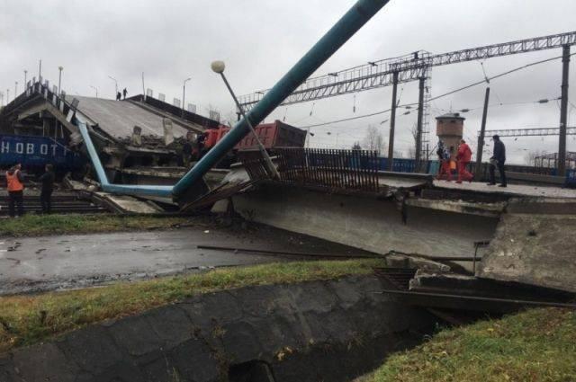 Обрушение моста в Приамурье попало на видео