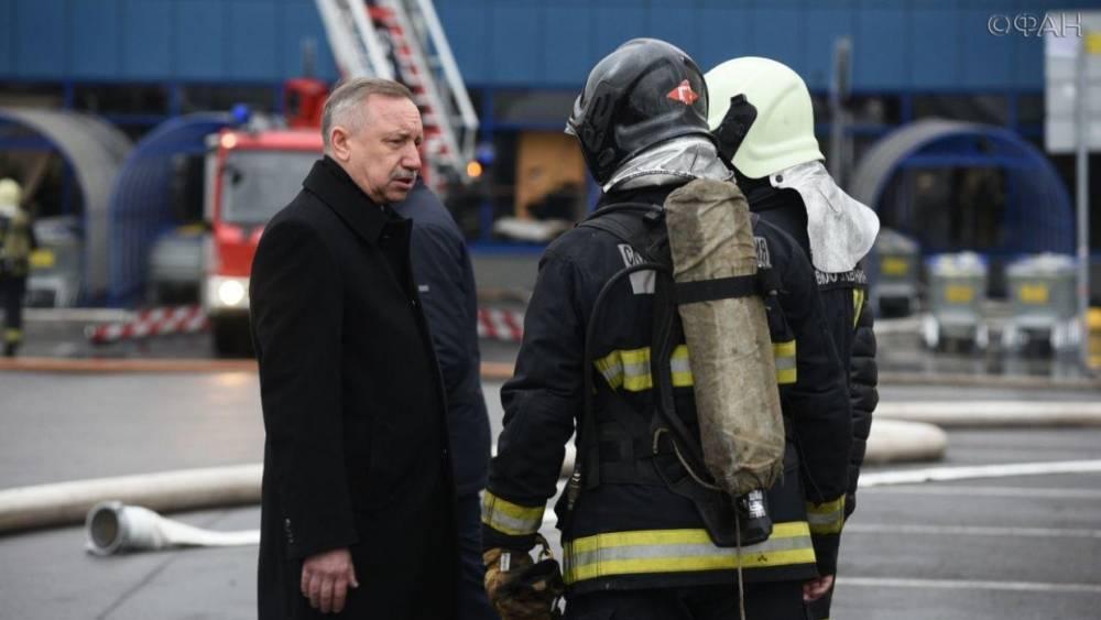 Беглов оценил работу спасателей в гипермаркете «Лента» в Петербурге