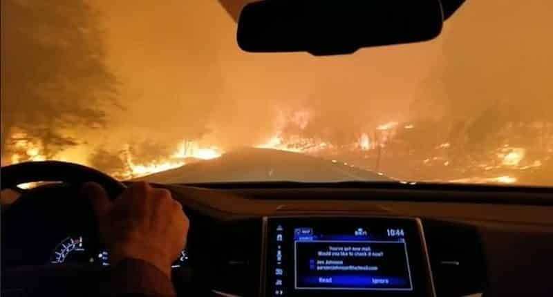 2 млн просмотров: невероятное видео семьи, прорывающейся через огненный ад в Калифорнии
