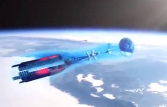 Модель российского космического аппарата с ядерным двигателем
