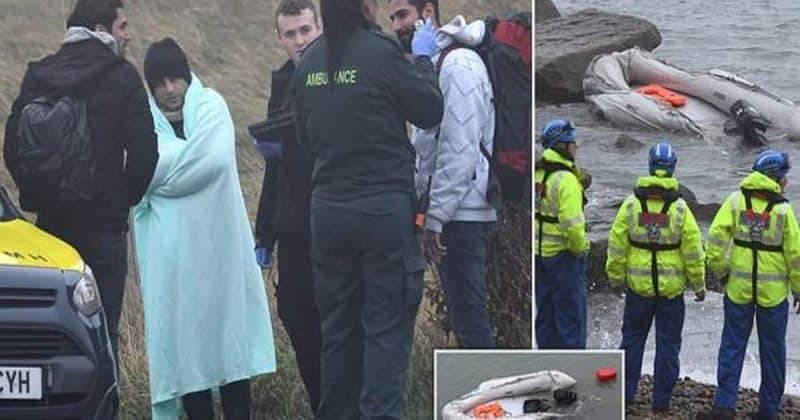 Береговая охрана перехватила 55 мигрантов, пытавшихся переплыть Ла-Манш в открытой лодчонке
