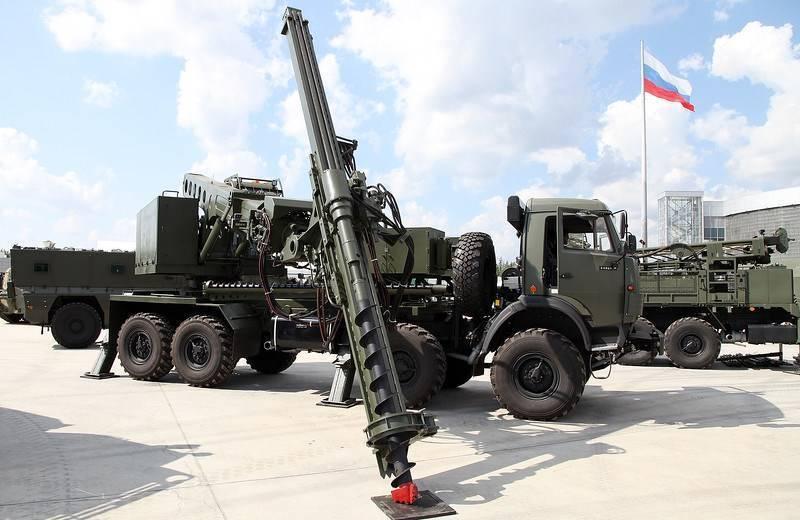 Российские сапёры получат новую бурильную машину