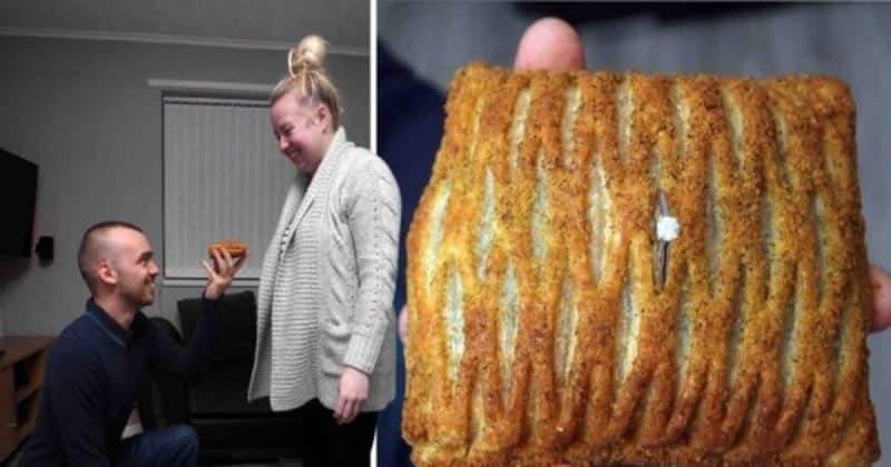Парень доказал свою любовь, сделав предложение с помощью булочки от Greggs