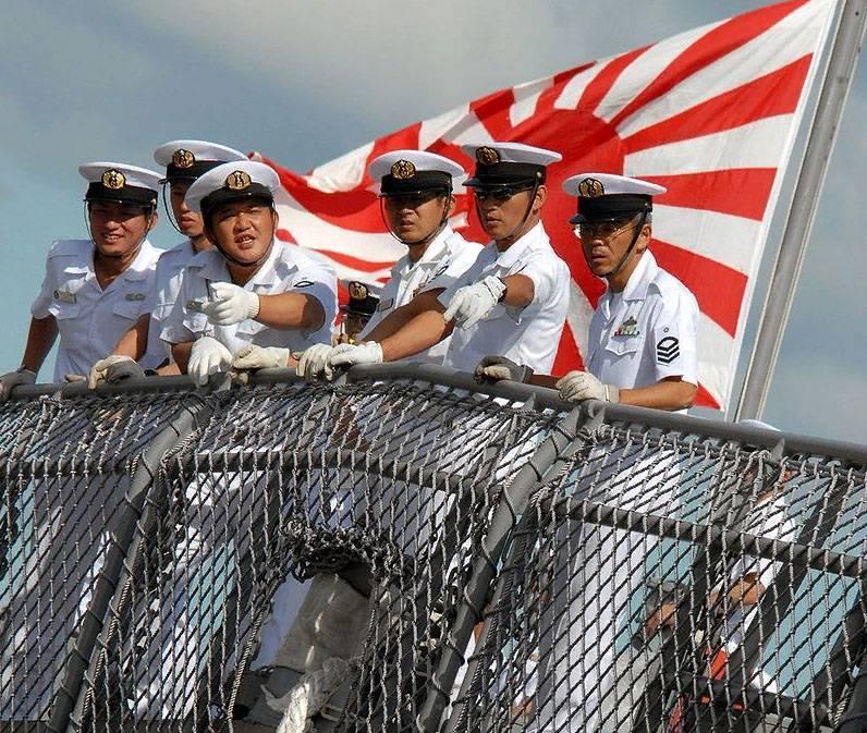 Военный корабль Японии потерял часть боезапаса