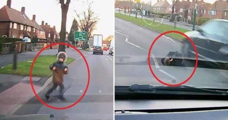 Ребенок дважды чудом избежал смерти, когда его сбила машина и отбросила под колеса другого авто