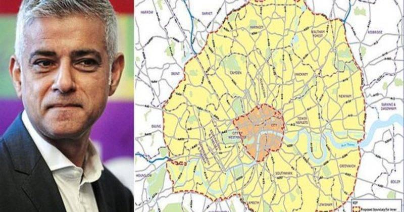 Зона ультранизких выбросов Лондона будет увеличена в 18 раз, и миллион водителей заставят платить по £12,50 в день