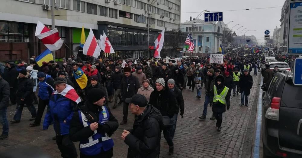 """В Киеве прошел """"Марш за импичмент"""" президента"""