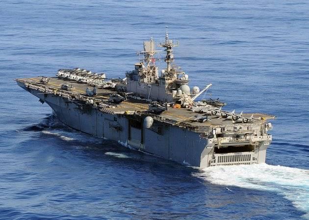 Группа десантных кораблей ВМС США вошла в Средиземное море