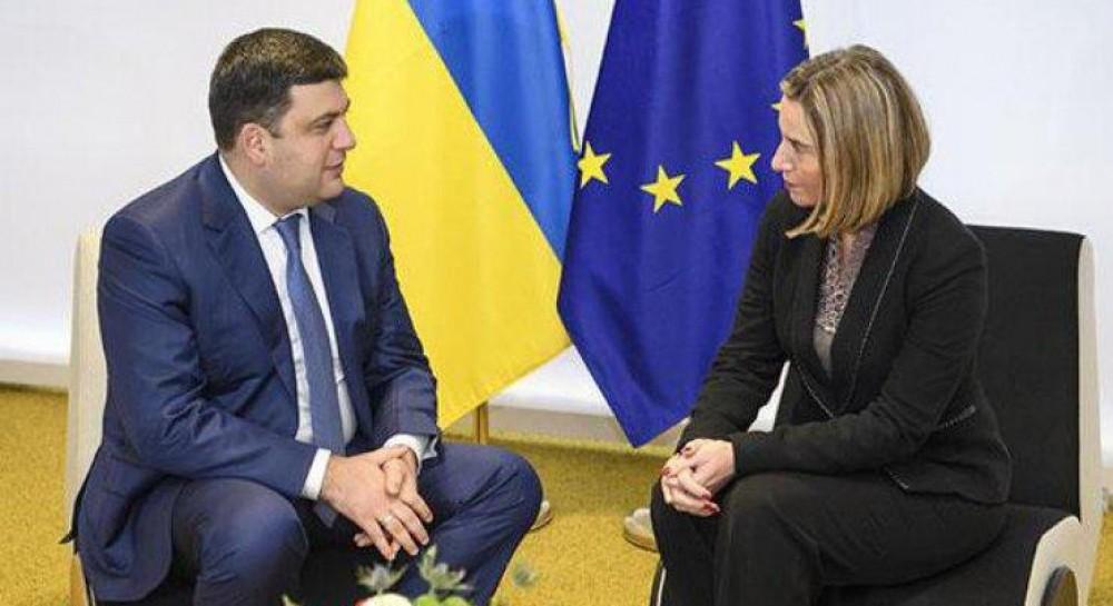 Встреча Гройсмана и Могерини в Киеве