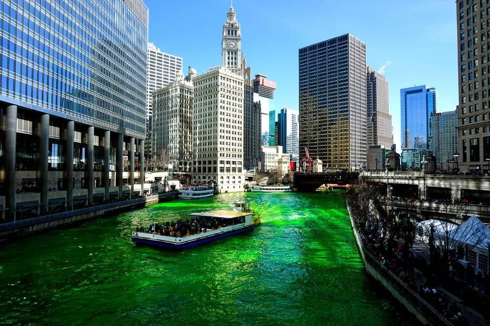 Как отмечают День святого Патрика в Чикаго: интересные факты
