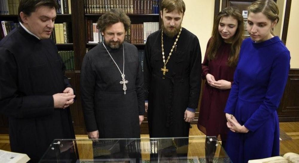 В минской духовной академии открылась выставка, посвященная Библии