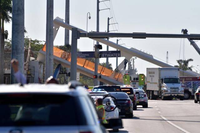 Трещины в конструкции моста в Майами заметили за два дня до его обрушения