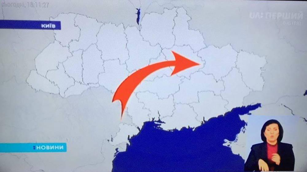 """""""Забыли нарисовать"""". Украинский канал показал в эфире карту без Крыма"""