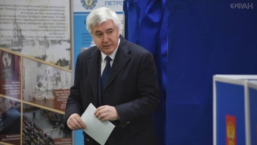 Выборы президента России: первым в Петербурге проголосовал глава горизбиркома Панкевич