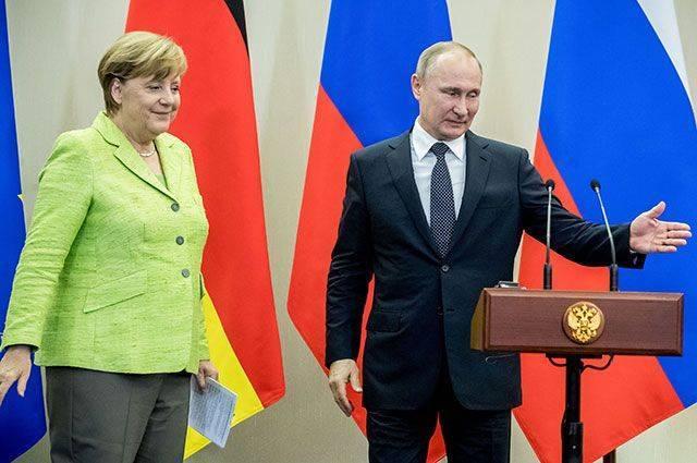 Меркель поздравила Путина с переизбранием на пост президента